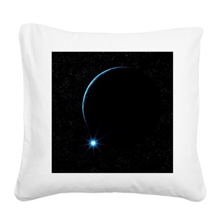 Moon and star Square Canvas Pillow