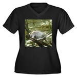 porcupine 2 Women's Plus Size V-Neck Dark T-Shirt