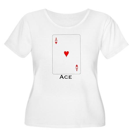Ace - Women's Plus Size Scoop Neck T-Shirt