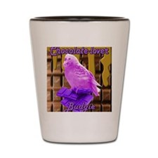 chocolate lover budgie Shot Glass