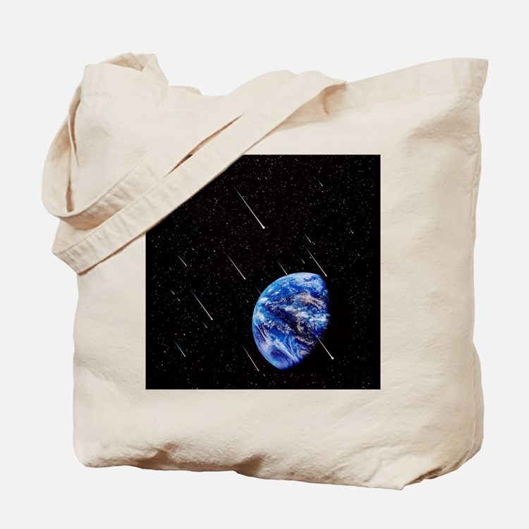 Meteors and Earth Tote Bag