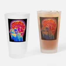 MRI scan of normal brain Drinking Glass