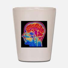 MRI scan of normal brain Shot Glass