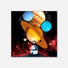 """Observing the planets Square Sticker 3"""" x 3"""""""