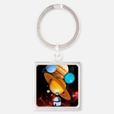 Observing the planets Square Keychain