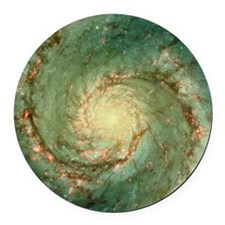 M51 whirlpool galaxy Round Car Magnet