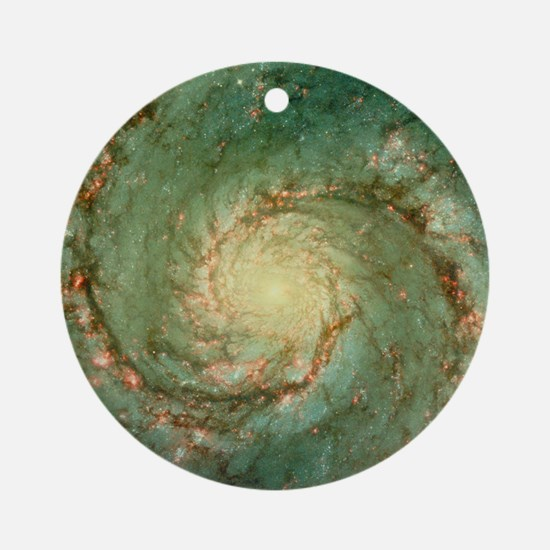 M51 whirlpool galaxy Round Ornament