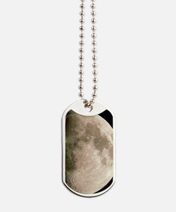 Optical image of a waxing gibbous moon Dog Tags