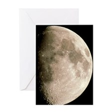 Optical image of a waxing gibbous mo Greeting Card