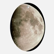 Optical image of a waxing gibbous mo Oval Ornament