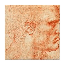Man's head Tile Coaster