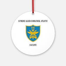 Supreme Allied Commander, Atlantic  Round Ornament