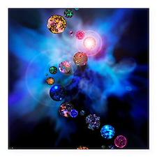 "Multiple universes Square Car Magnet 3"" x 3"""