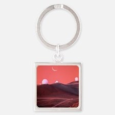 Occultation of moon Square Keychain