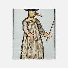 Plague doctor, France, 18th century Throw Blanket