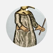Plague doctor, France, 18th century Round Ornament