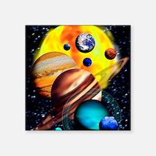 "Planets Square Sticker 3"" x 3"""