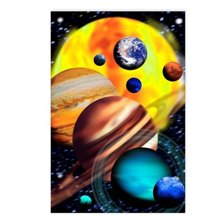 Planets Postcards (Package of 8)