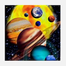 Planets Tile Coaster