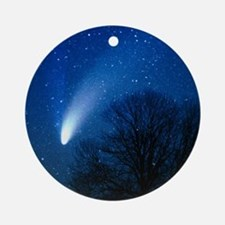 Optical image of comet Hale-Bopp, 6 Round Ornament