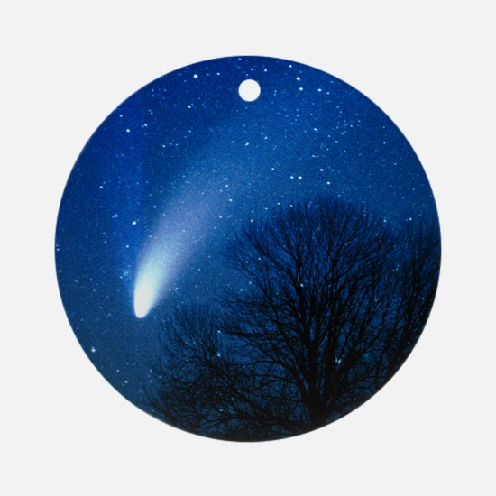 Optical image of comet Hale-Bopp, 6 Round Ornament