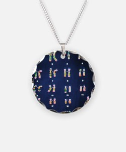Normal female chromosomes Necklace