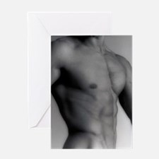 Nude man's torso Greeting Card