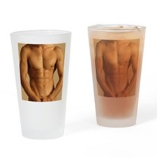 Nude man Drinking Glass