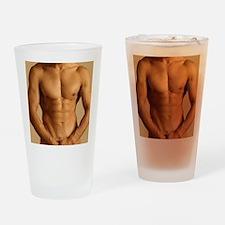 Nude man Drinking Glass