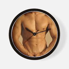Nude man Wall Clock