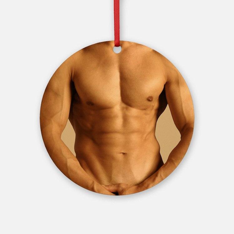 Nude man Round Ornament
