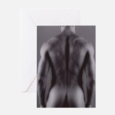 Nude man Greeting Card