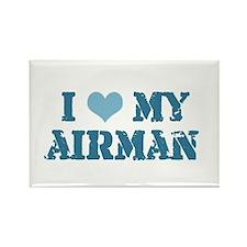 I ♥ my Airman Rectangle Magnet