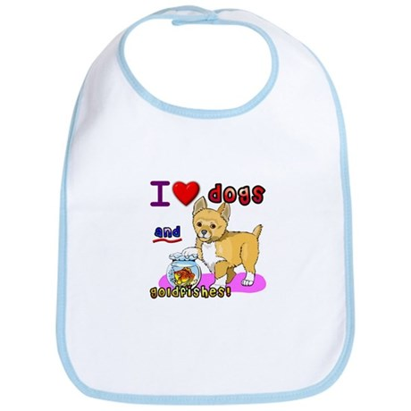 I Love Dogs and Goldfishes! Bib