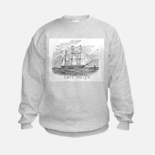 Tall ships abstract Sweatshirt