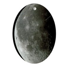 Optical image of a waning half Moon Oval Ornament