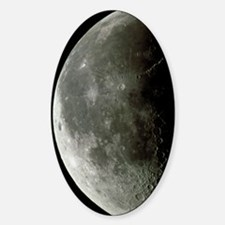 Optical image of a waning half Moon Sticker (Oval)
