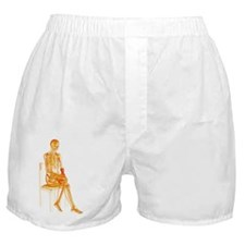 Skeleton sitting Boxer Shorts