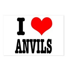 I Heart (Love) Anvils Postcards (Package of 8)
