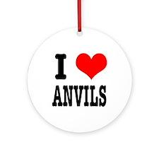 I Heart (Love) Anvils Ornament (Round)
