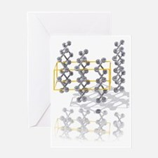 Arsenic crystal structure Greeting Card