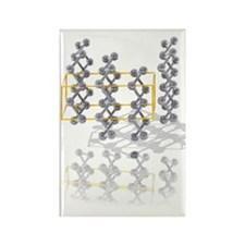 Arsenic crystal structure Rectangle Magnet