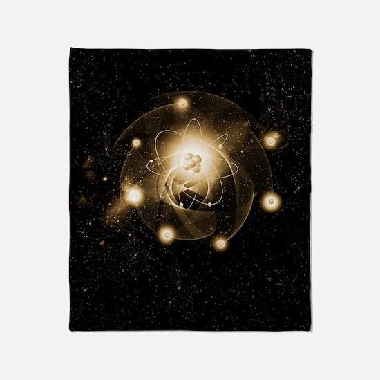 Atom, artwork Throw Blanket