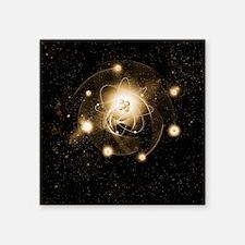 """Atom, artwork Square Sticker 3"""" x 3"""""""