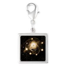Atom, artwork Silver Square Charm