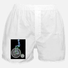Skeleton on a penny farthing Boxer Shorts