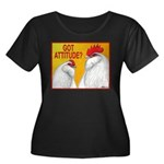 Got Attitude? Women's Plus Size Scoop Neck Dark T-
