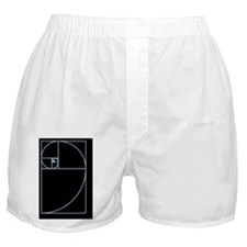 Fibonacci spiral, artwork Boxer Shorts
