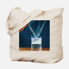 Acyl chloride reaction with water Tote Bag