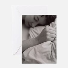 Sleeping woman Greeting Card